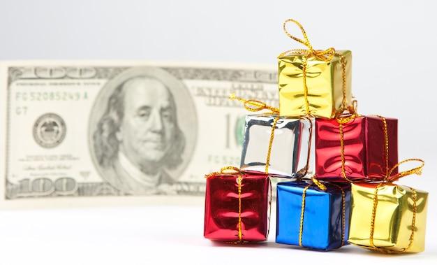 お金で小さなクリスマスプレゼント