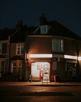 Small convenience store staying open during the covid-19 pandemic in uk