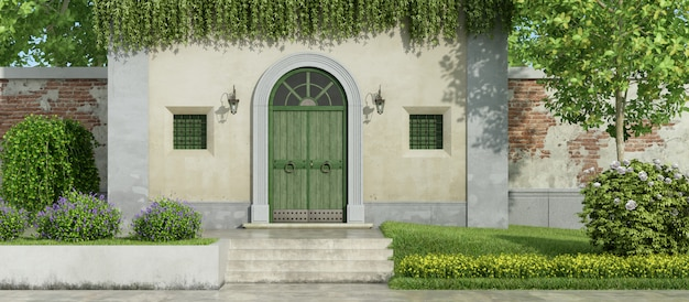 small country house with garden