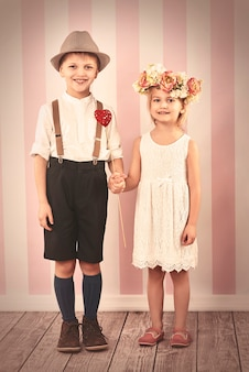 Piccola coppia nel giorno di san valentino