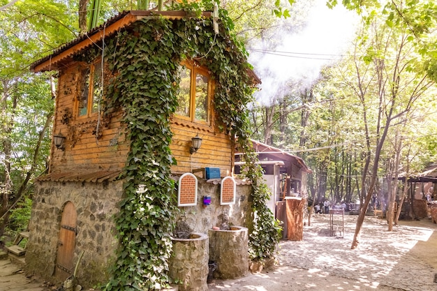 Small cozy cottage for rest in the forest