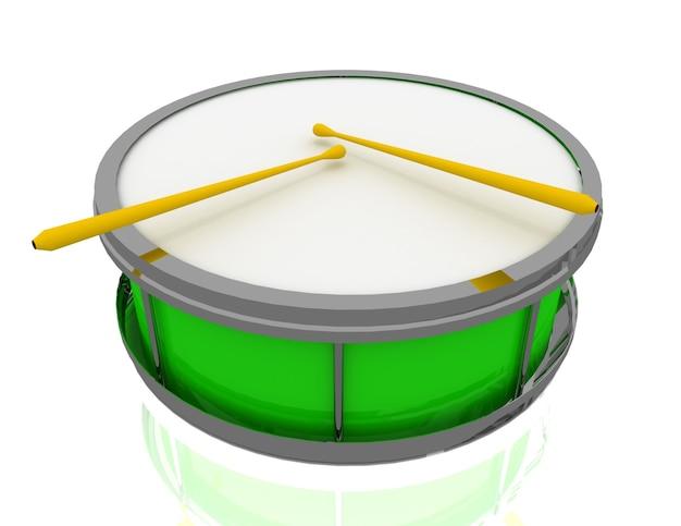 小さなドラムのコンセプト。 3dレンダリングされたイラスト