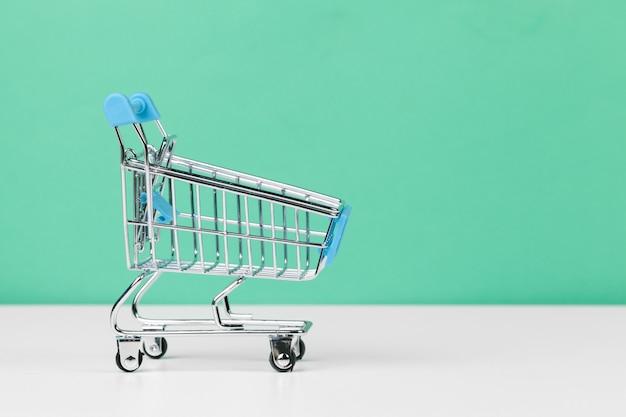 Small empty shopping cart