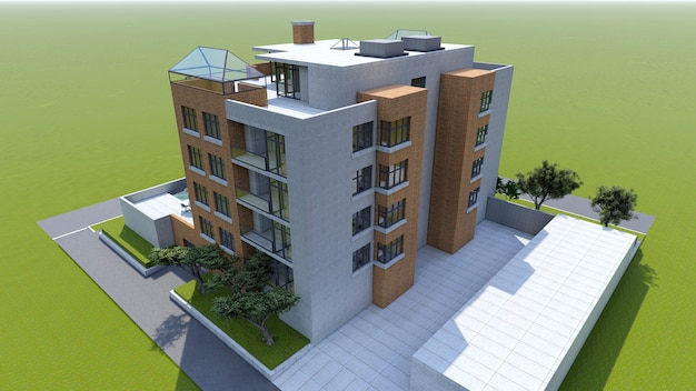 Small functional condominium with its own enclosed area