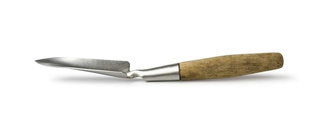 Small garden shovel isolated on white Premium Photo