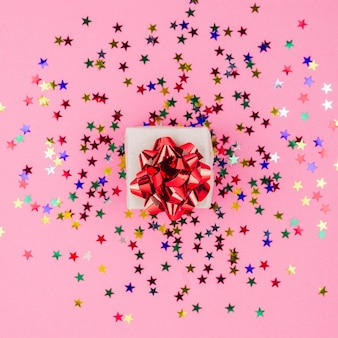 Small gift box with spangles