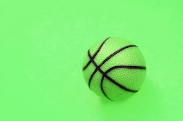 Small green ball for basketball sport game