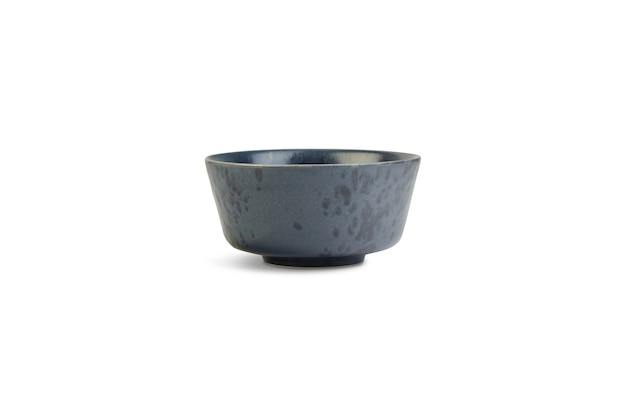 Small grey bowl under the lights isolated on a white background