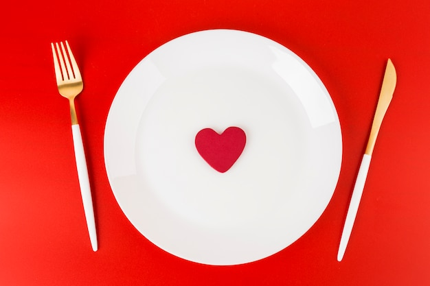 Small heart on plate