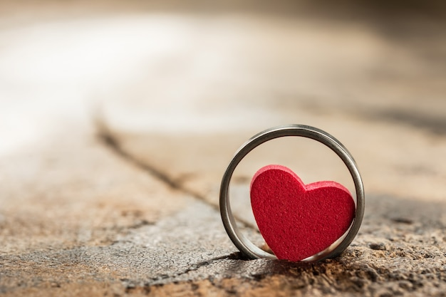 Small heart in the ring