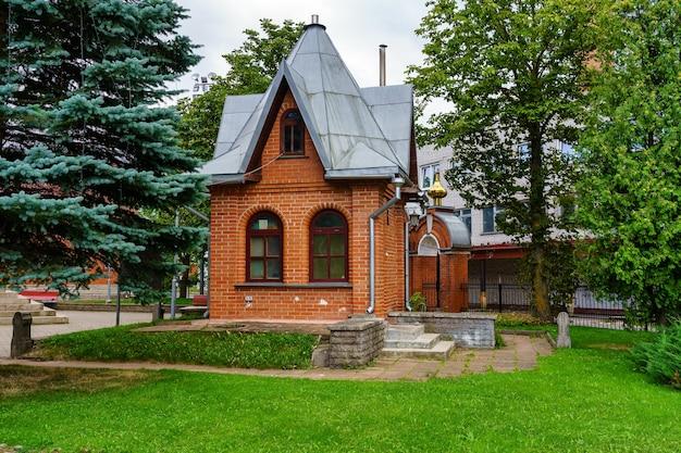 Small house in public park of narva estonia.