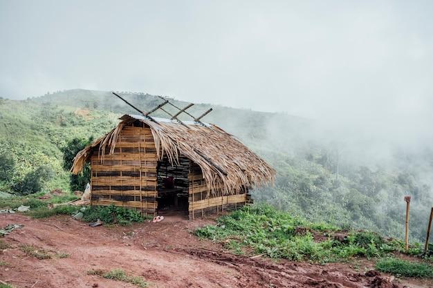 Small hut for farmer rest
