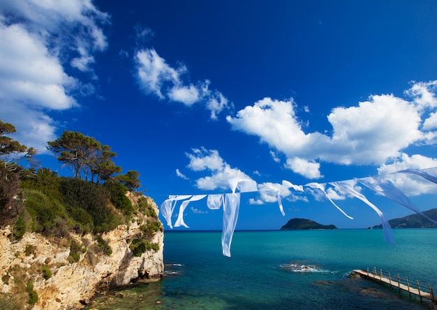 그리스 자퀸 토스의 작은 섬