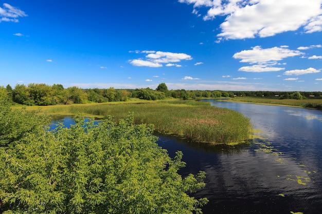 Небольшое озеро маленькое озеро, сфотографировано в летний (весенний) сезон.