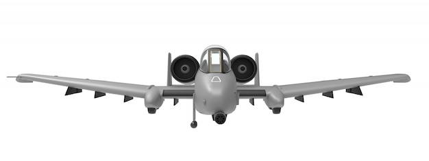 A small military plane