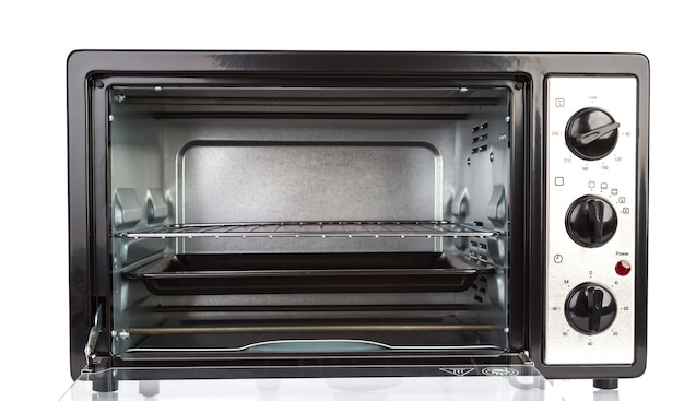 Small oven on white background