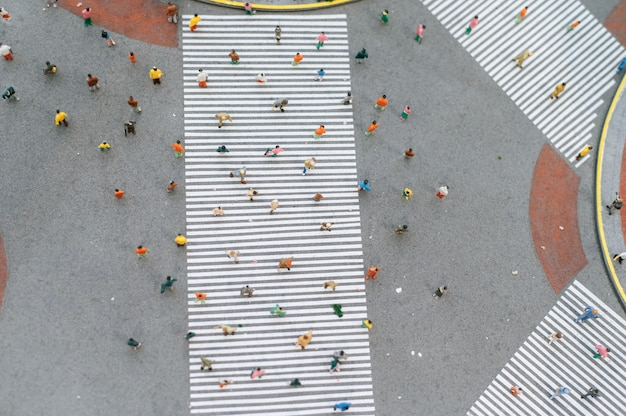 Small people or small people walk on many streets. Free Photo