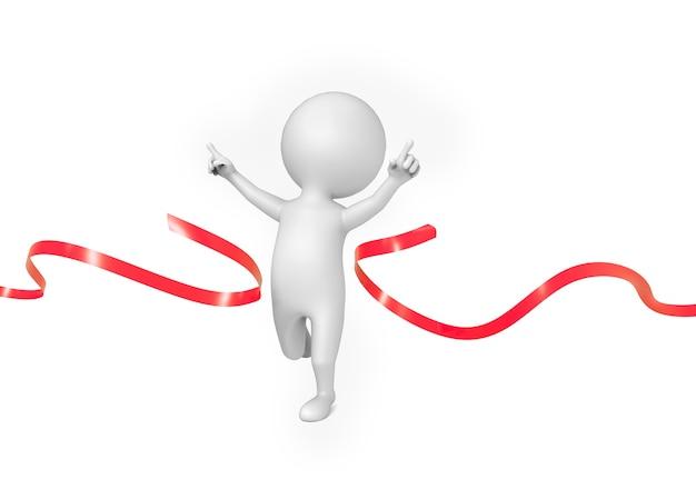 Small person runs as a winner