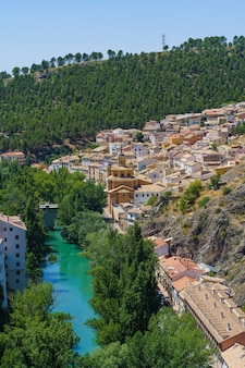 Small and picturesque neighborhood of san anton separated from the city of cuenca by the jucar river