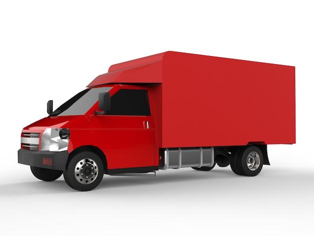 작은 빨간 트럭