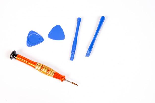 Small screwdriver tool for repair smartphone.
