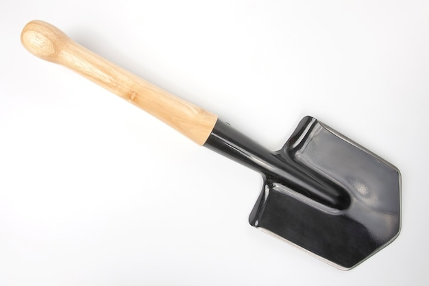 Small shovel for tourism and earthworks