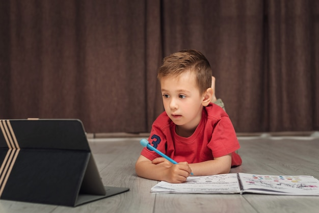 A small smart child learns remotely