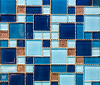 Small square tiles of blue color