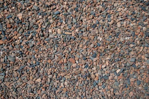 Small stones on the background. texture. chippings