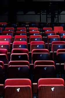 Small theater red enclosed seats