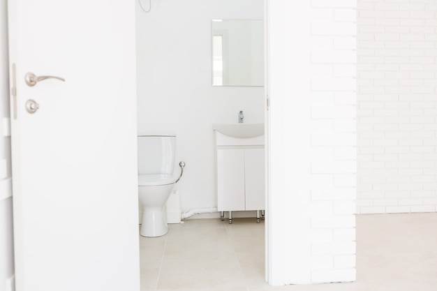 Small toilet in a small office