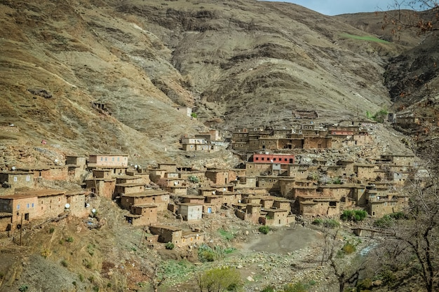 A small village in the atlas mountain range. morocco.