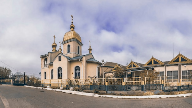 Small village orthodox church