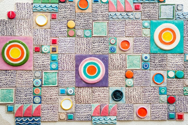 Small wall mosaic tile marine theme