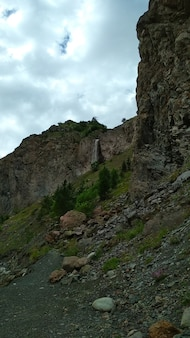 Small waterfall among the rocks