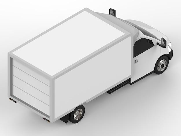 작은 흰색 트럭