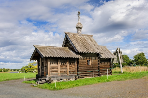Small wooden church at kizhi