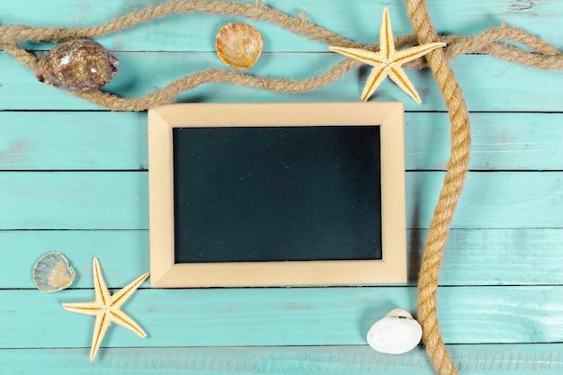 Small wooden framed blank blackboard for your design