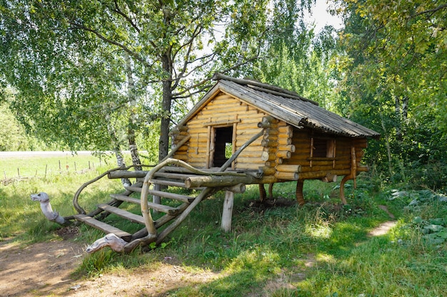 Small wooden house with porch