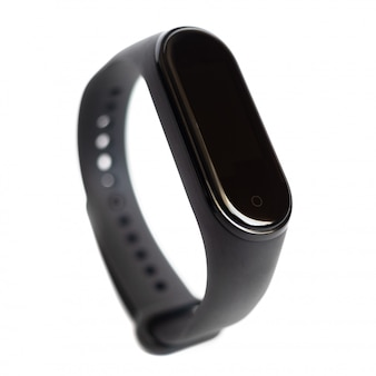 Smart activity fitness tracker isolated on white