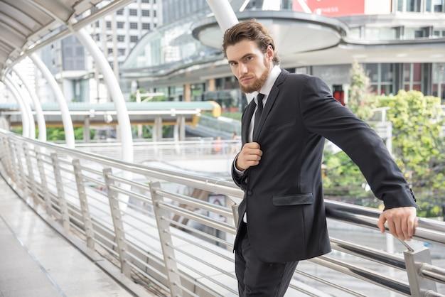 Smart businessman posing