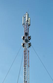 Smart cellular network antenna base station on the telecommunication mast.