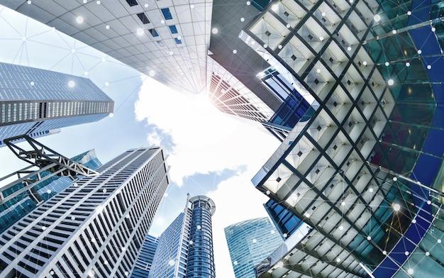 シンガポールの高層ビルのスマートシティと無線通信ネットワーク