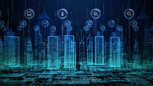 Smart city technology network connecting