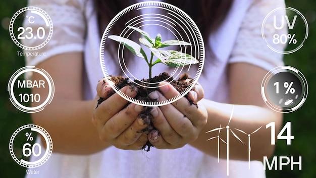 未来的なセンサーデータ収集によるスマートデジタル農業技術