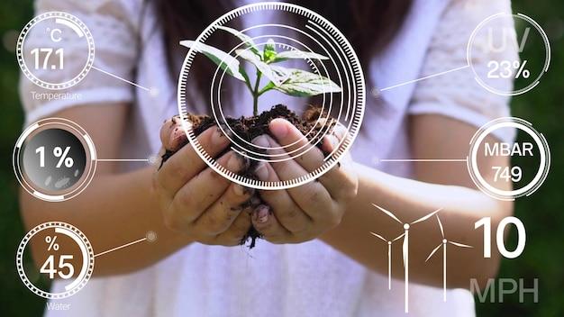 Интеллектуальная цифровая сельскохозяйственная технология благодаря футуристическому датчику