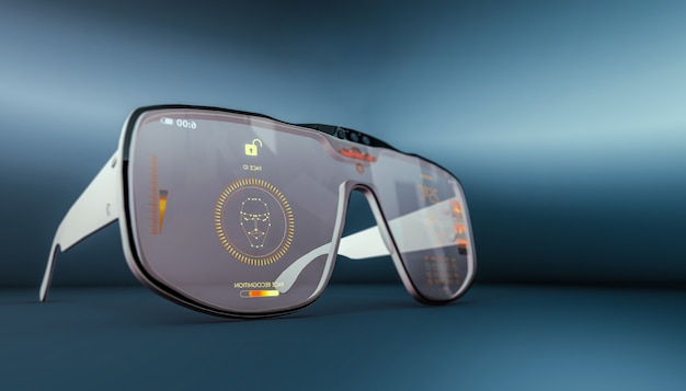 Smart glasses . new technology.