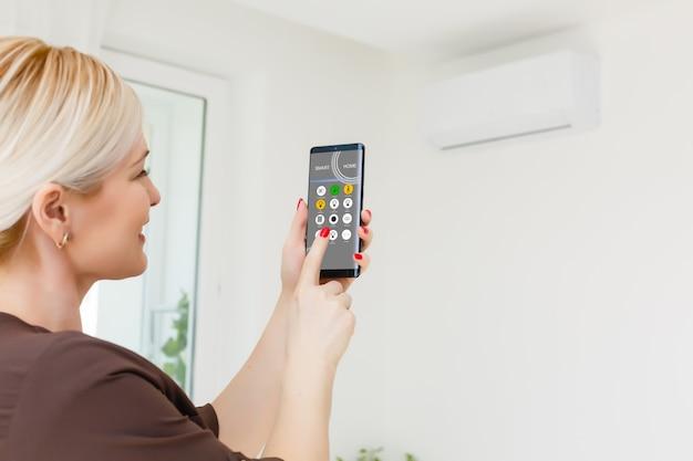 스마트 홈, 스마트 폰에 대한 지능형 주택 자동화 원격 제어 기술 개념
