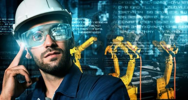 디지털 공장 생산 기술을 위한 스마트 산업용 로봇 팔