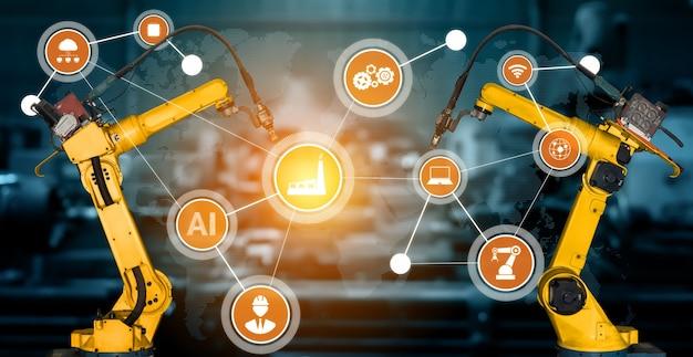 デジタル工場生産技術向けのスマート産業用ロボットアーム